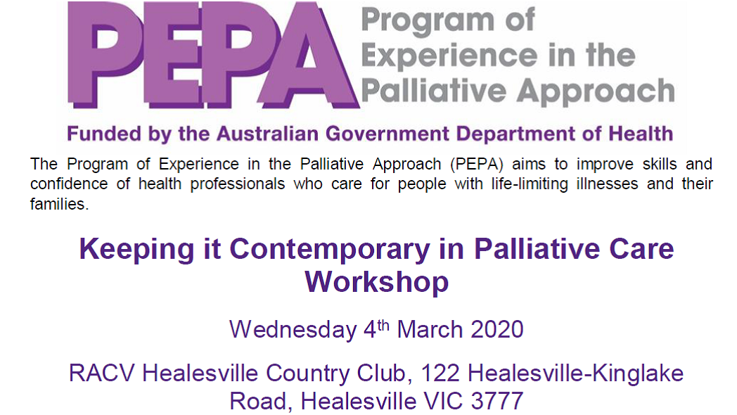 Keeping it Contemporary in Palliative Care  MARCH 4